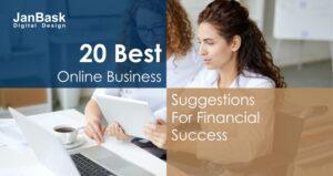 20 best online business suggestion