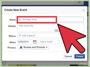 creating event