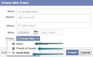 event privacy
