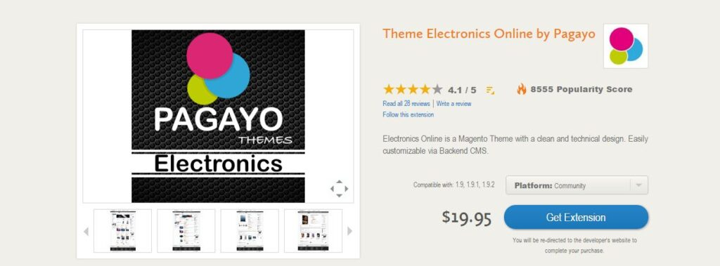 Electronics online by pagayo