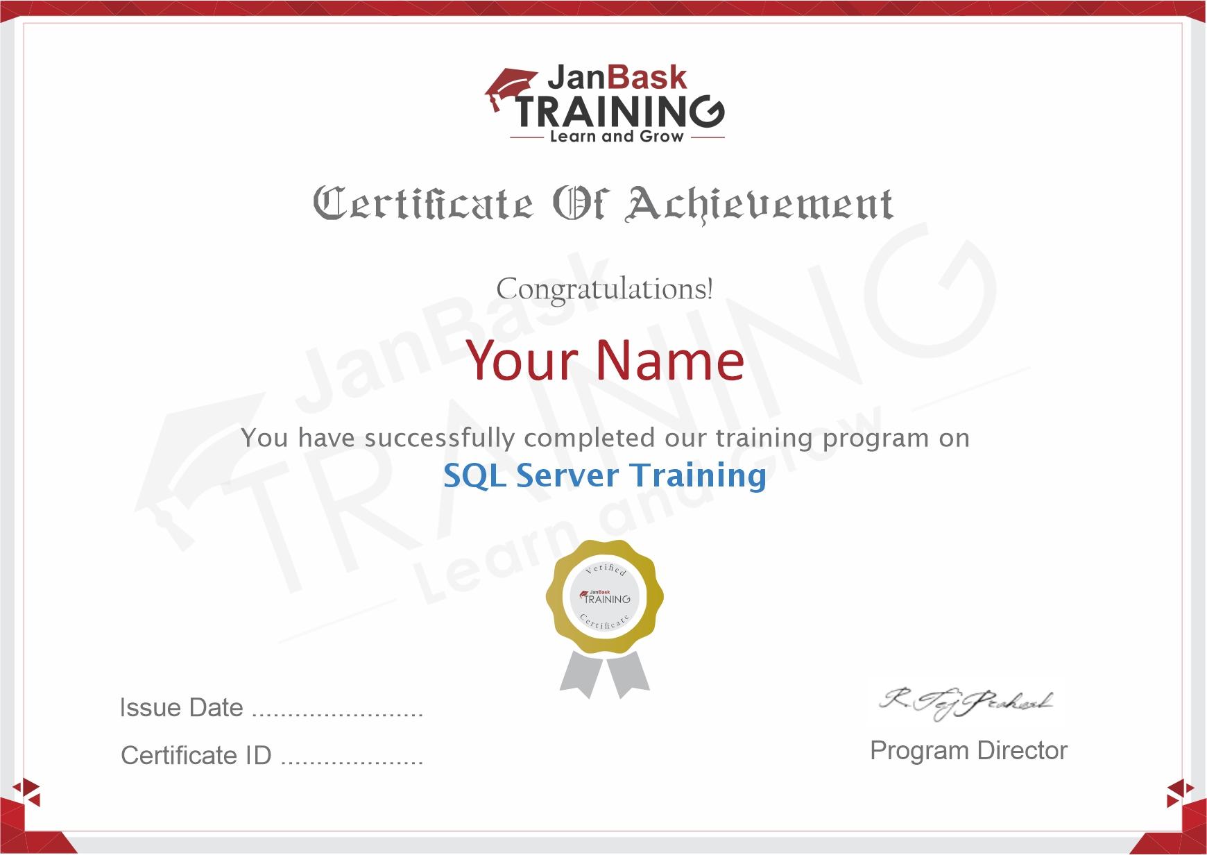MS SQL Server Certificate